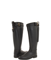 Burberry - Black Equestrian Buckle Strap Rainboot