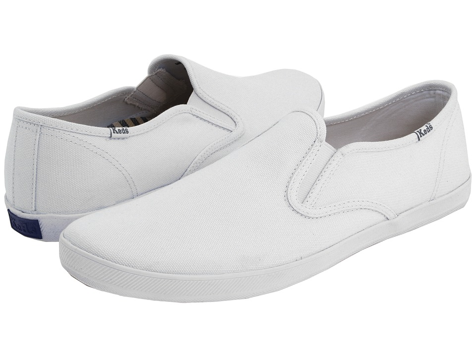 Keds - Champion Slip-On - Canvas (White) Mens  Shoes