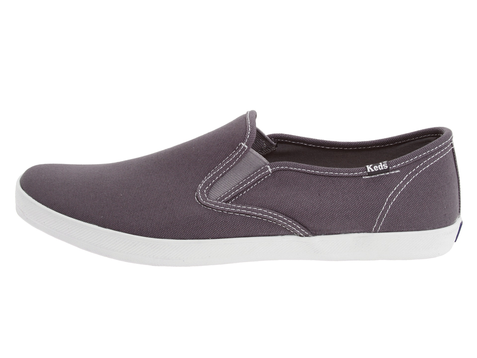 keds chion slip on canvas neutral grey zappos