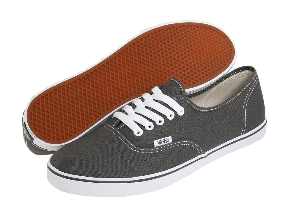 Vans - Authentictm Lo Pro (Pewter/True White) Skate Shoes