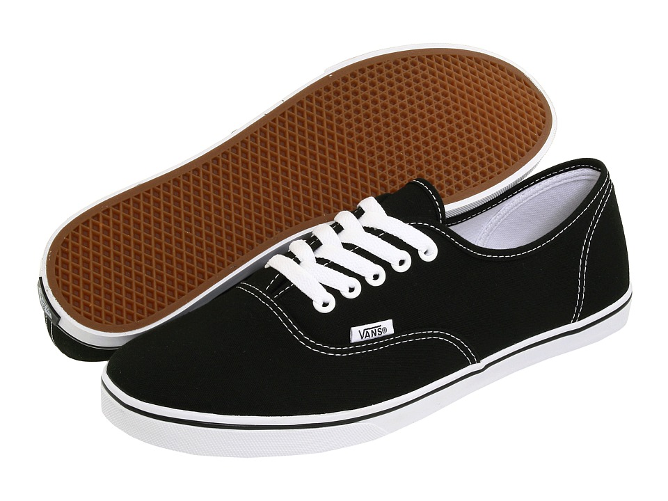 Vans Authentic Lo Pro (Black/True White) Skate Shoes
