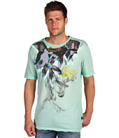 Just Cavalli - Tee With Fish Flower Print