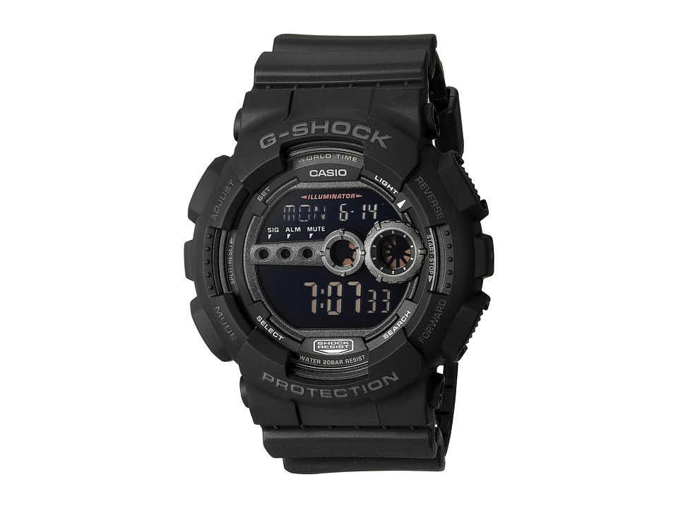G-Shock - X-Large Digital GD100 (Military Black) Watches