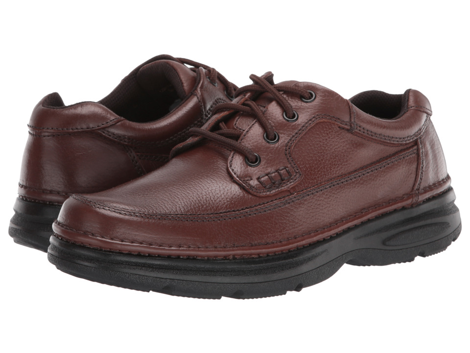 Nunn Bush - Cameron Comfort Walking Oxford (Brown Tumbled Leather) Mens Lace Up Moc Toe Shoes