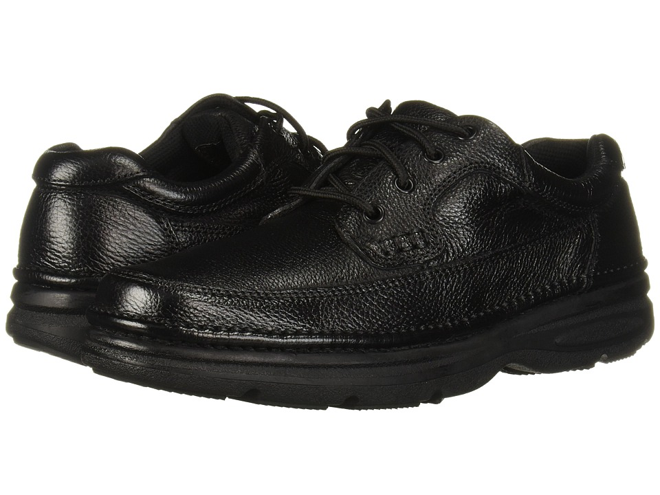 Nunn Bush - Cameron Comfort Walking Oxford (Black Tumbled Leather) Men