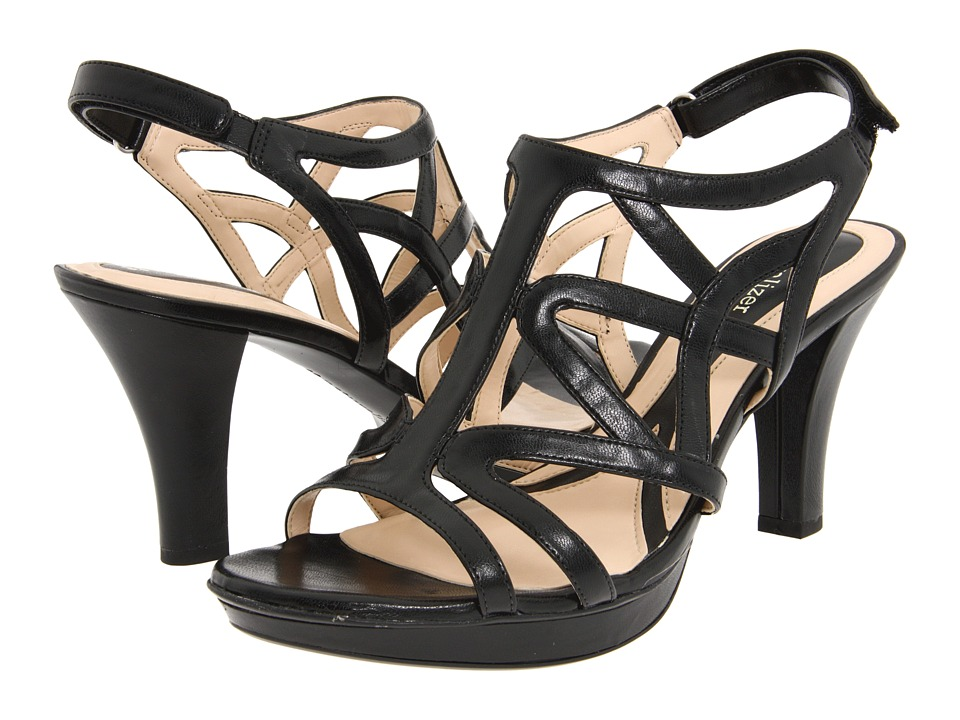 Naturalizer Danya (Black Smooth) Sandals