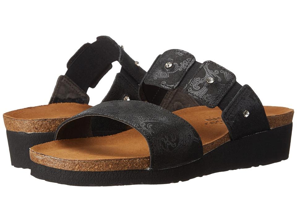 Naot Footwear Ashley (Black Lace Nubuck) Sandals