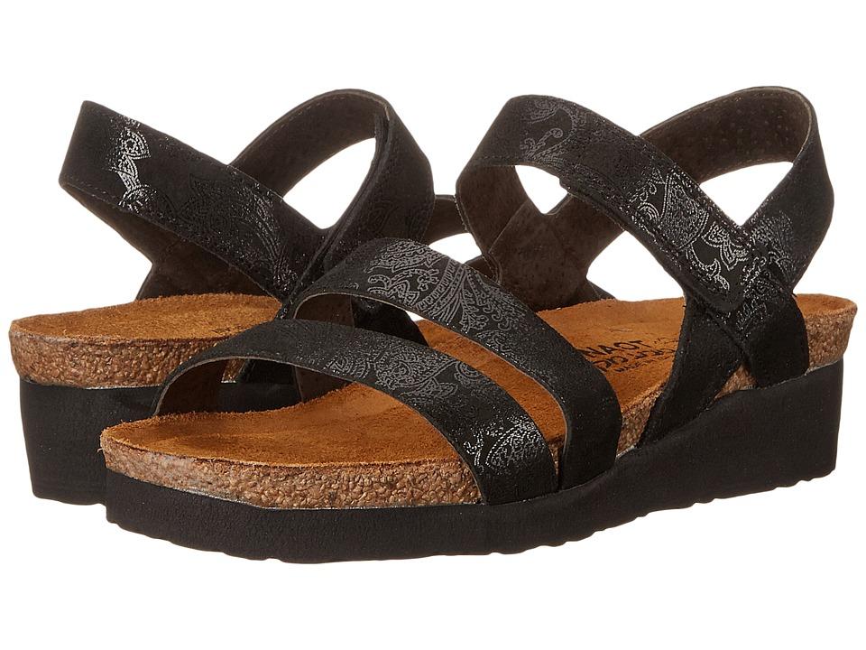 Naot Kayla (Black Lace Nubuck) Sandals