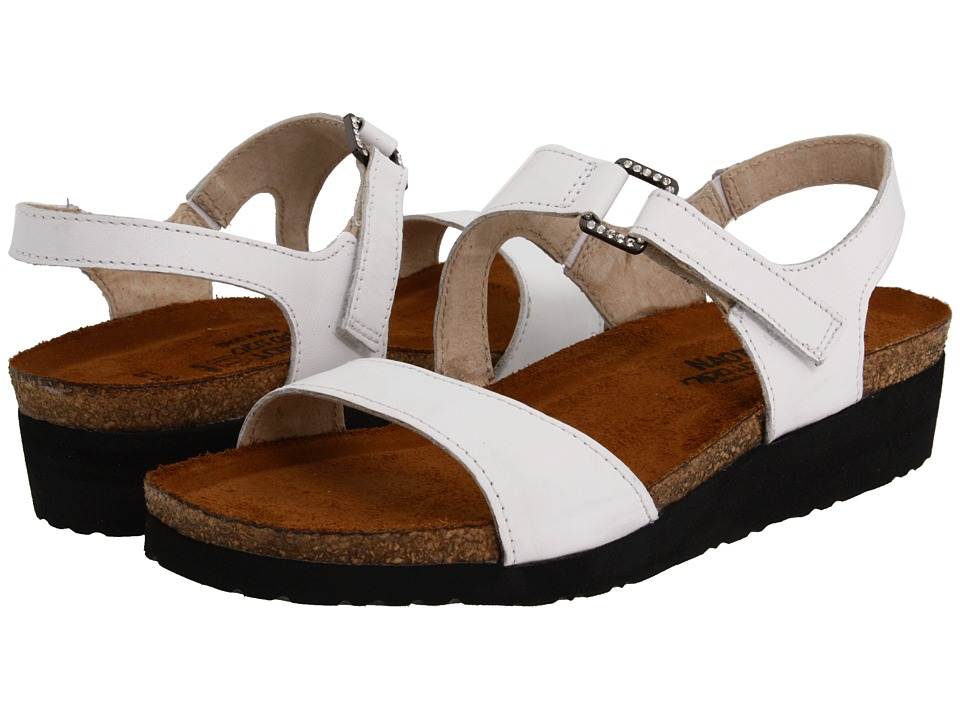 Naot Footwear Pamela (White Leather) Sandals