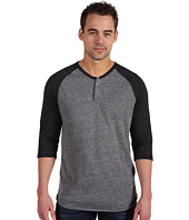 Alternative Apparel - Eco-Heather 3/4 Raglan Henley