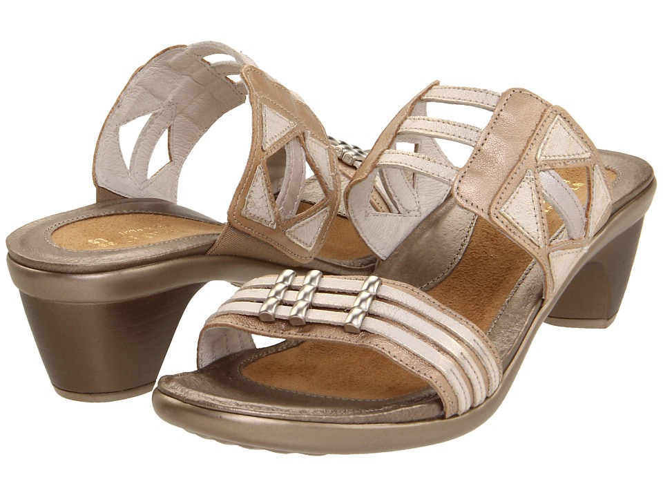 Naot Footwear Afrodita Champagne/Dusty Silver/Quartz Leather Womens Sandals