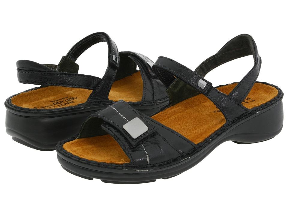 Naot Footwear Papaya (Black Gloss Leather) Sandals