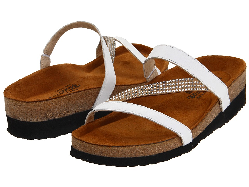 Naot Footwear Hawaii (White Leather) Sandals