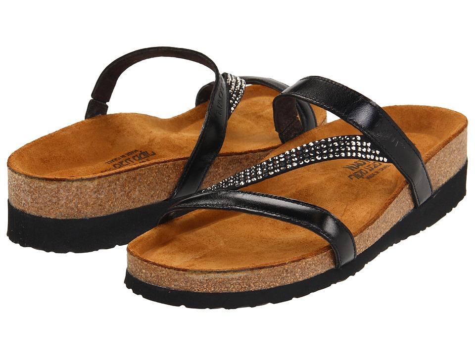 Naot Footwear - Hawaii (Black Madras Leather) Women