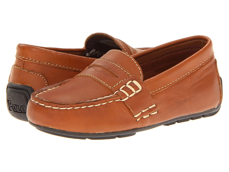 Polo Ralph Lauren Kids - Telly (Infant/Toddler) (Tan Burnished Leather) Boys Shoes