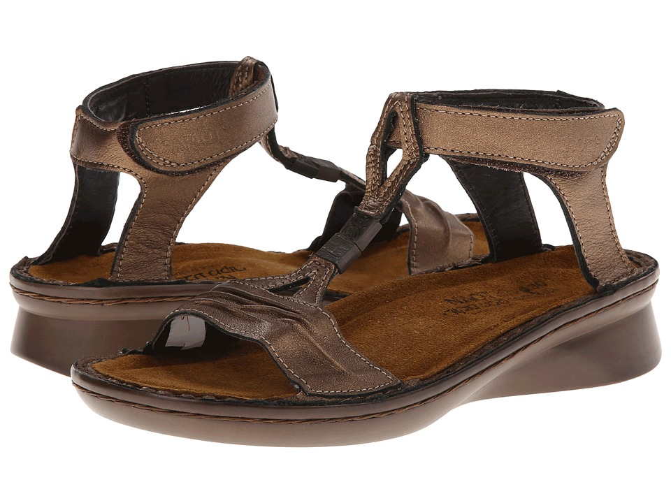 Naot Footwear Cymbal Grecian Gold Leather Womens Sandals