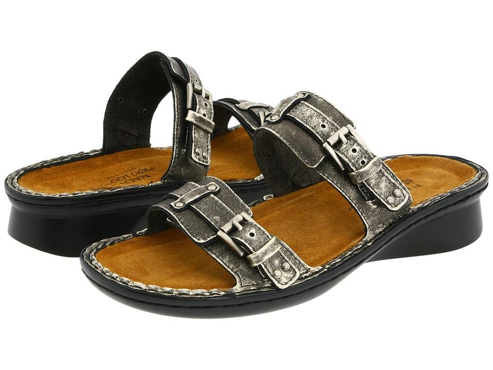 Naot Footwear Karaoke (Metal Leather) Women's Slide Shoes
