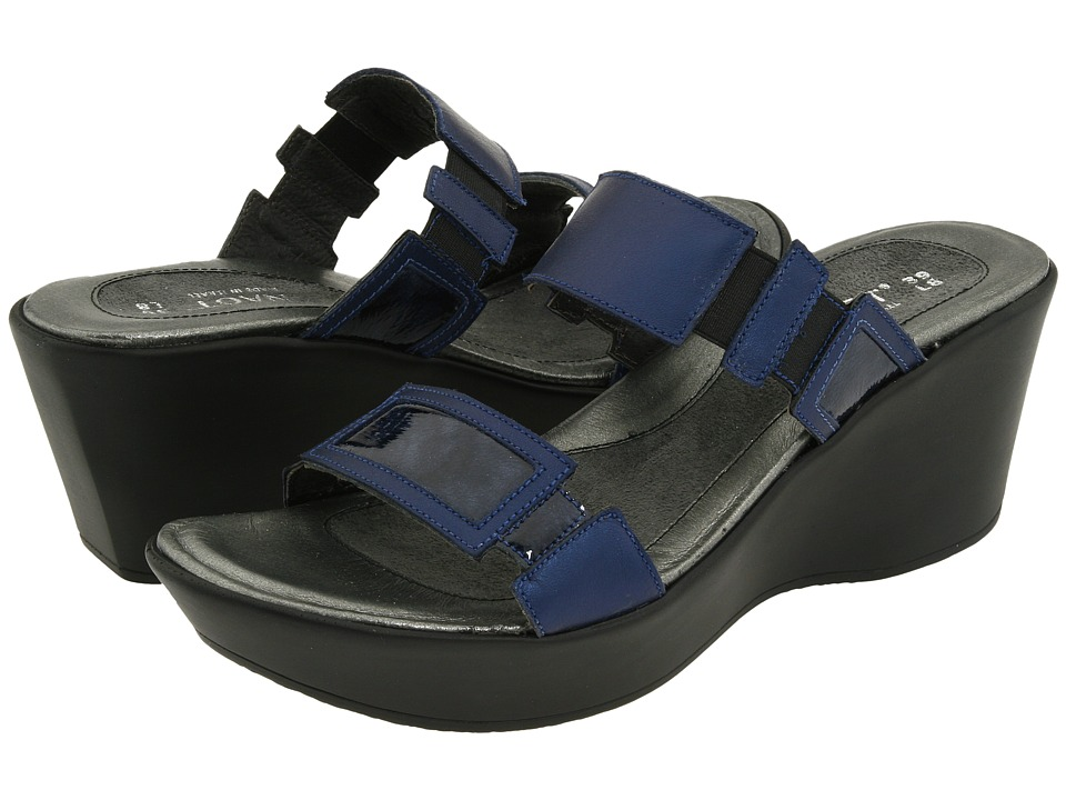 Naot - Treasure (Polar Sea/Navy Patent Leather) Women's Wedge Shoes