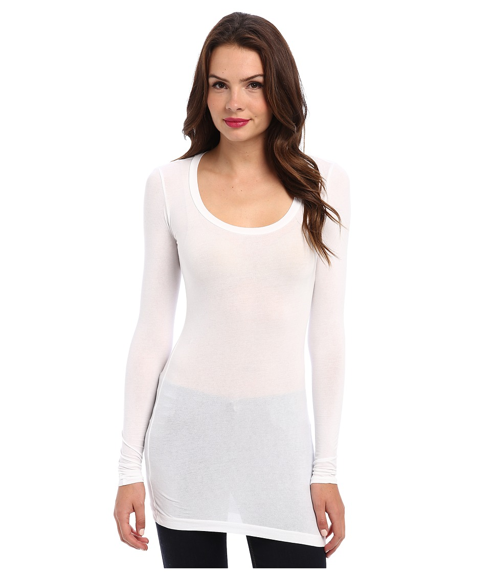 Splendid Stretch Sheer Layers Tunic (White) Women