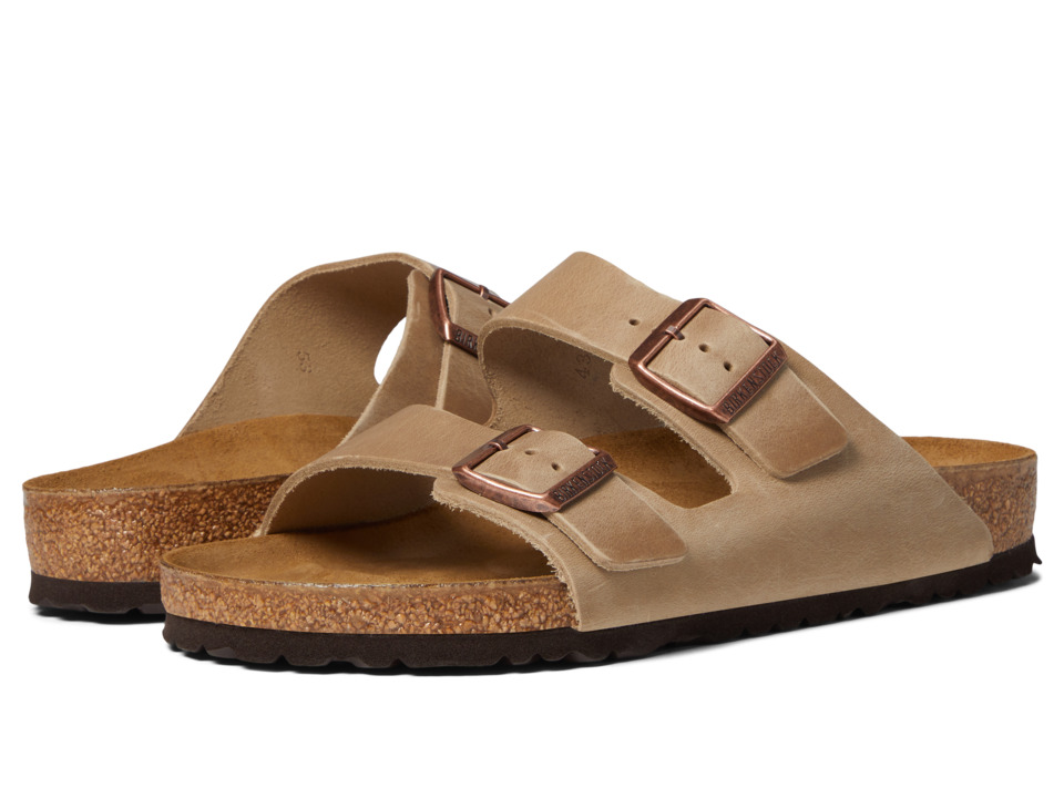 Birkenstock - Arizona - Oiled Leather (Unisex) (Tobacco Oiled Leather) Sandals