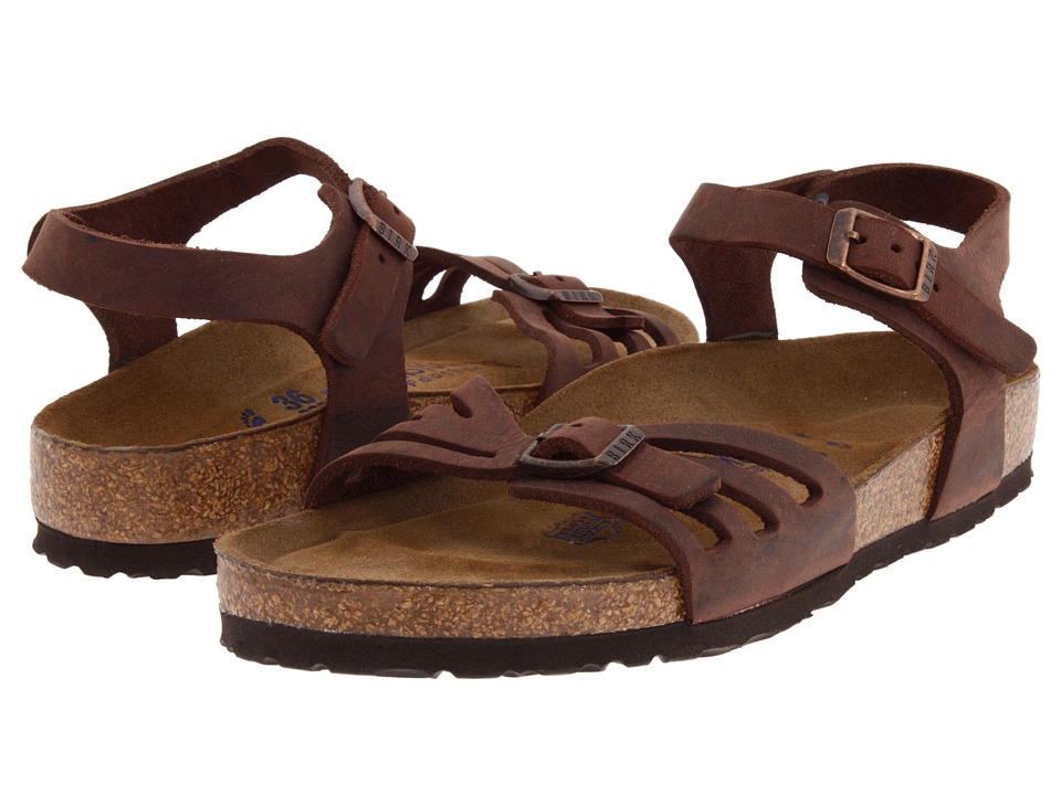 Birkenstock Bali Soft Footbed (Habana Oiled Leather) Women's Sandals, Footwear, wide width womens sandals, wide fitting sandal, cute, WW