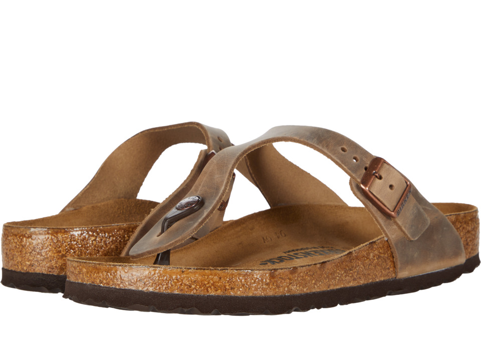 Birkenstock Gizeh Oiled Leather Tobacco Oiled Leather Womens Sandals