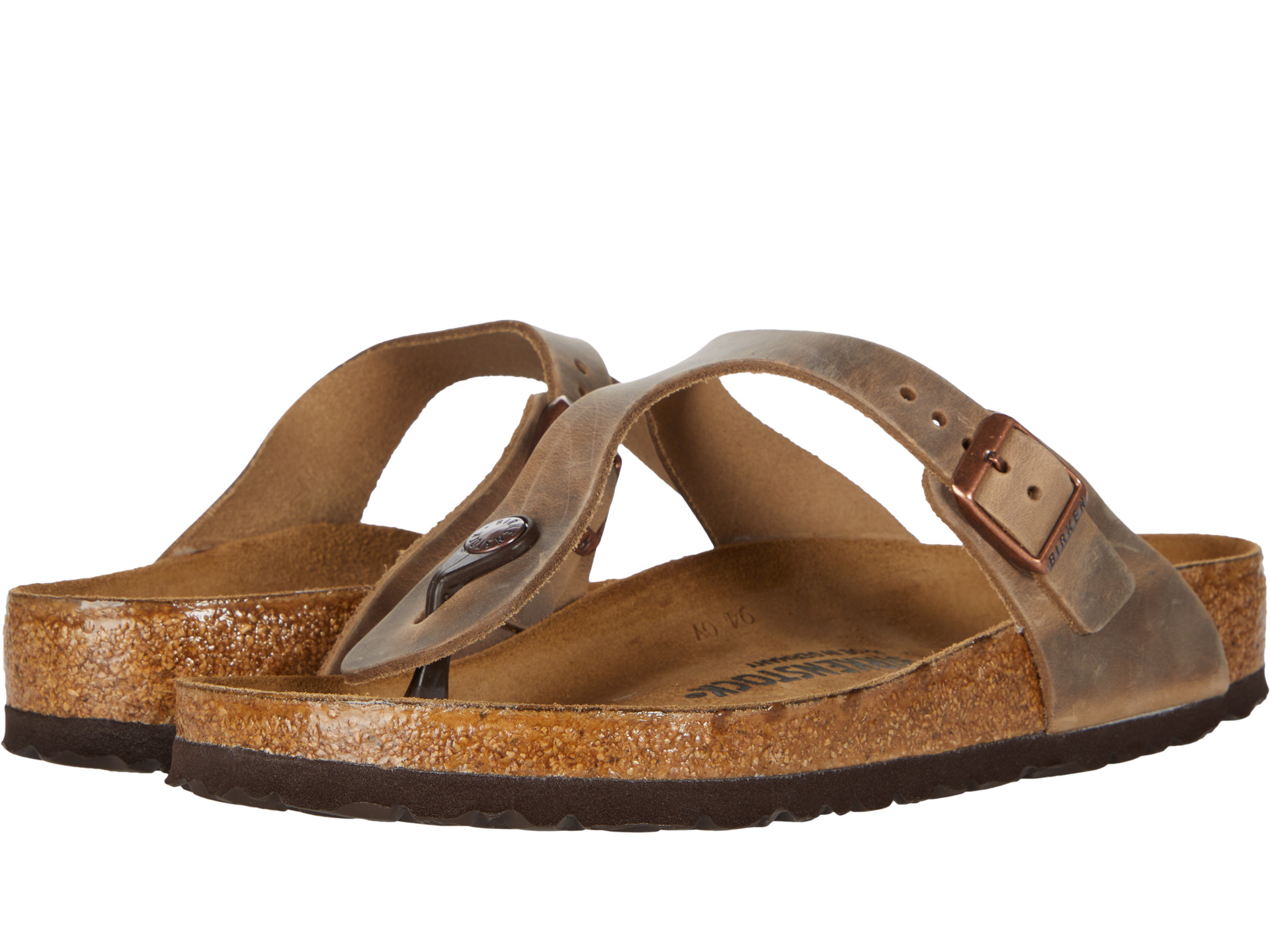 Birkenstock Gizeh Oiled Leather Tobacco Oiled Leather ...