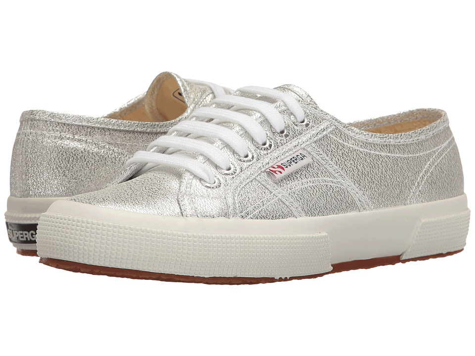 Superga 2750 LAMEW (Silver) Women's Shoes