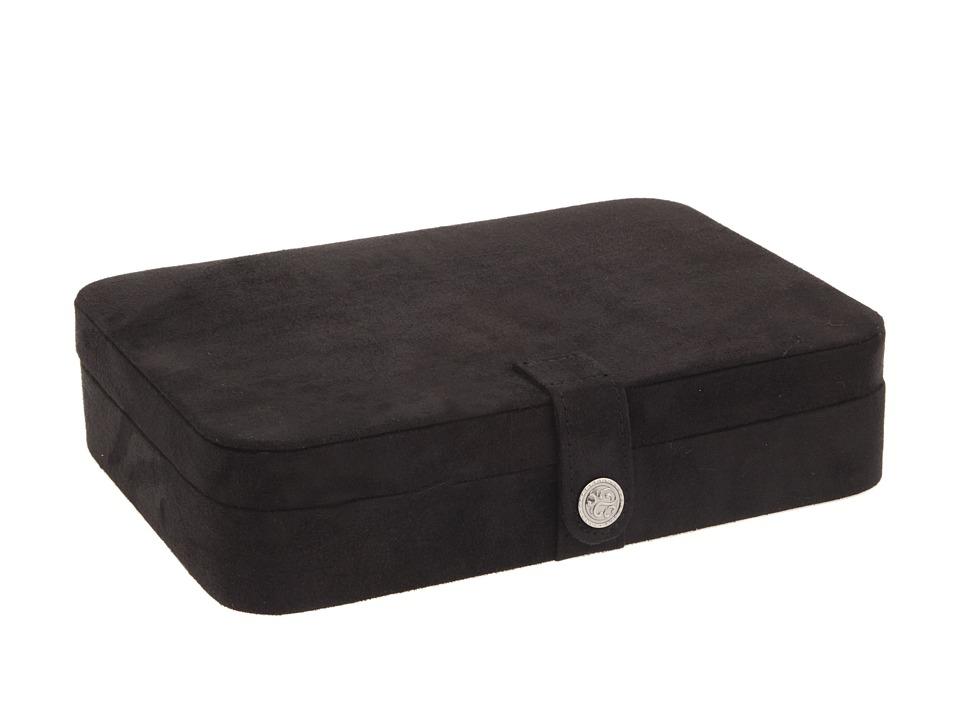 Mele Maria Plush Compartment Travel Case Jewelry Box Black Jewelry Boxes Small Furniture