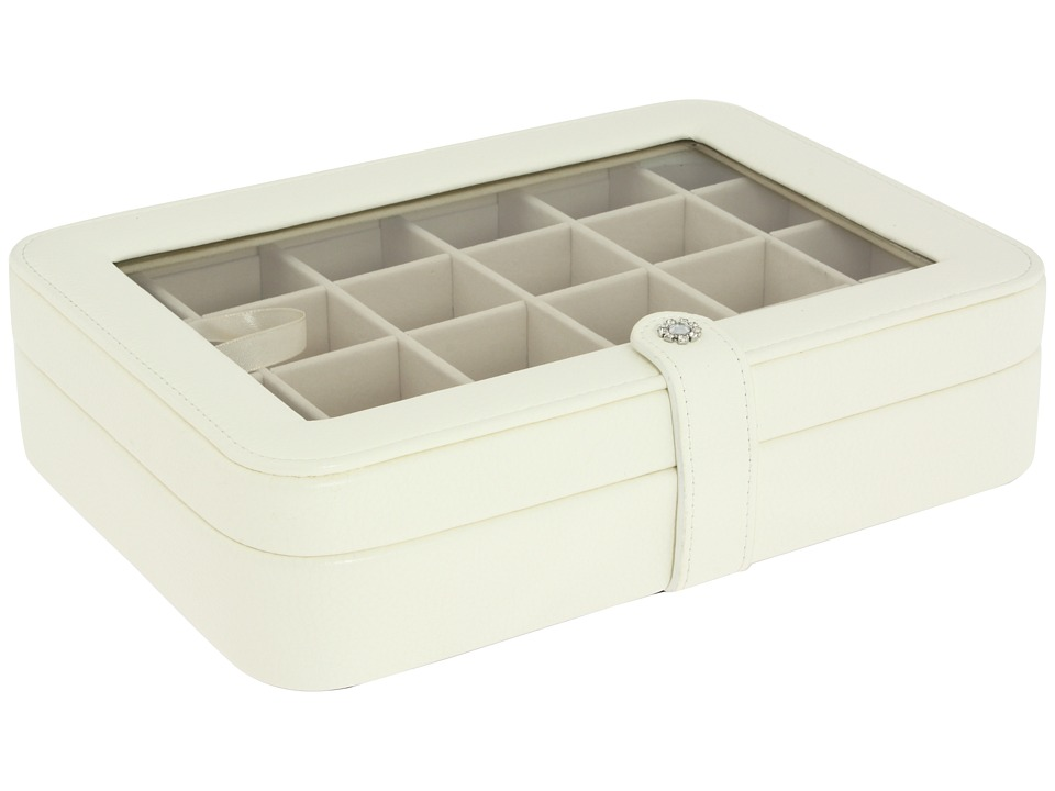 Mele Elaine Window Jewelry Case Jewelry Box Ivory Jewelry Boxes Small Furniture