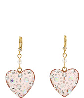 Betsey Johnson - Heart Drop Earrings