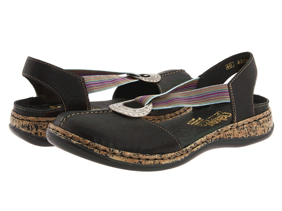 Rieker 46362 Daisy 62 (Black Leather)