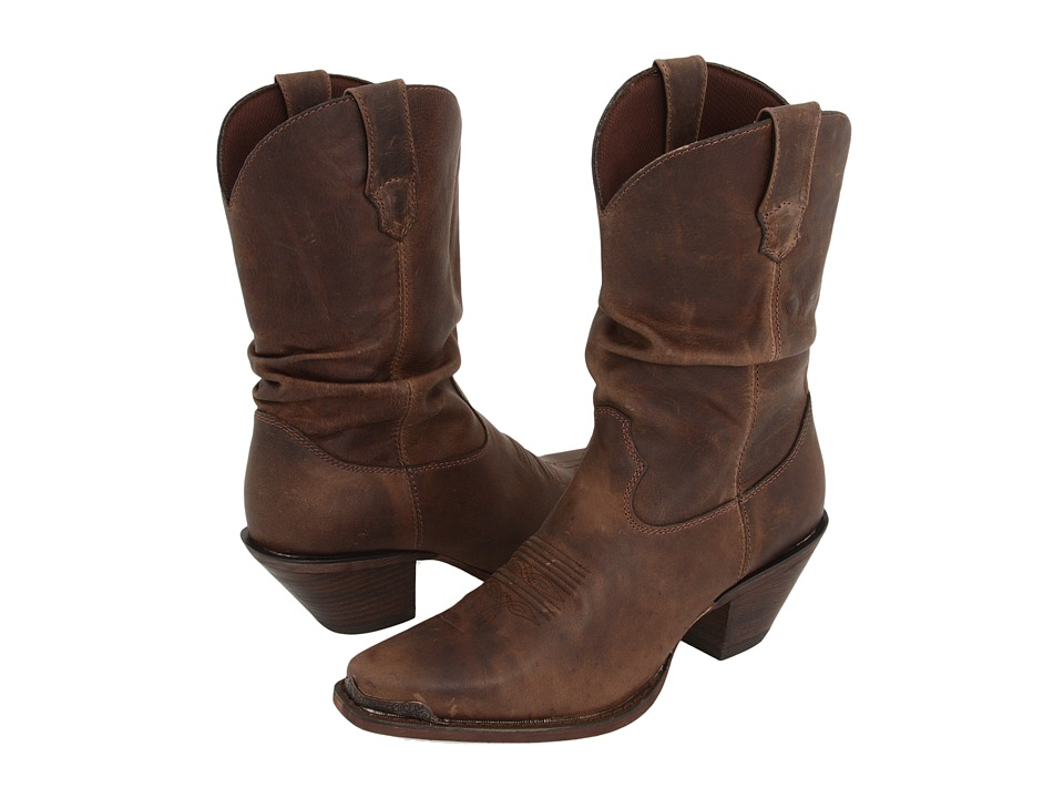Durango Crush Slouch Boots (Distressed Sunset Brown) Western Boots