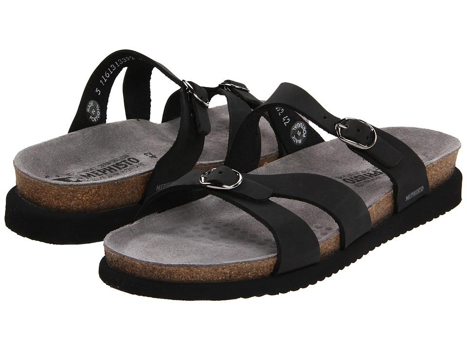 Mephisto Hannel (Black Nubuck) Sandals