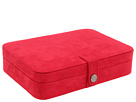 Mele Maria Plush Compartment Travel Case Jewelry Box