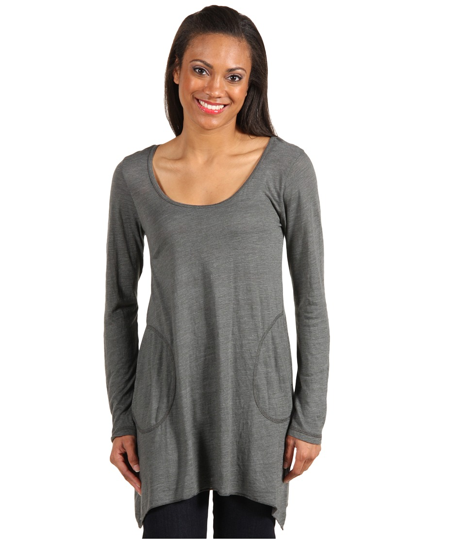 Allen Allen L/S Angled 2-Pocket Scoop Tunic (Cilantro) Women