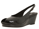 Walking Cradles - Natasha (Black Baby Gator Print Leather) - Footwear, Dress Shoes, Womens, Wide Fit, Wide Widths