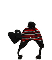 Nike Kids - Striped Beanie with Mitten Set (Infant/Toddler)