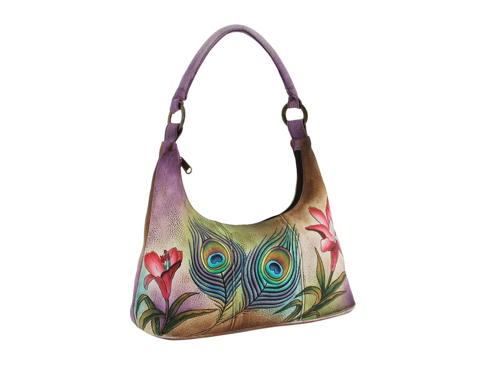 Anuschka Handbags - 371 (Peacock Flower) Shoulder Handbags