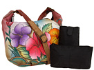 Anuschka Handbags - 471 (Hawiian Hibiscus) - Bags and Luggage