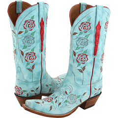 L4685 (Destroyed Robins Egg Blue Goat) Cowboy Boots