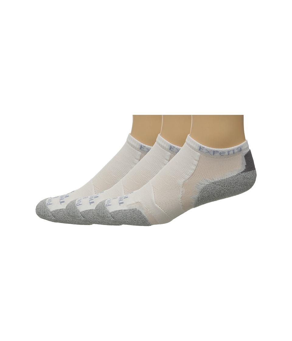 Thorlos Experia Micro Mini 3 pair Pack White Low Cut Socks Shoes