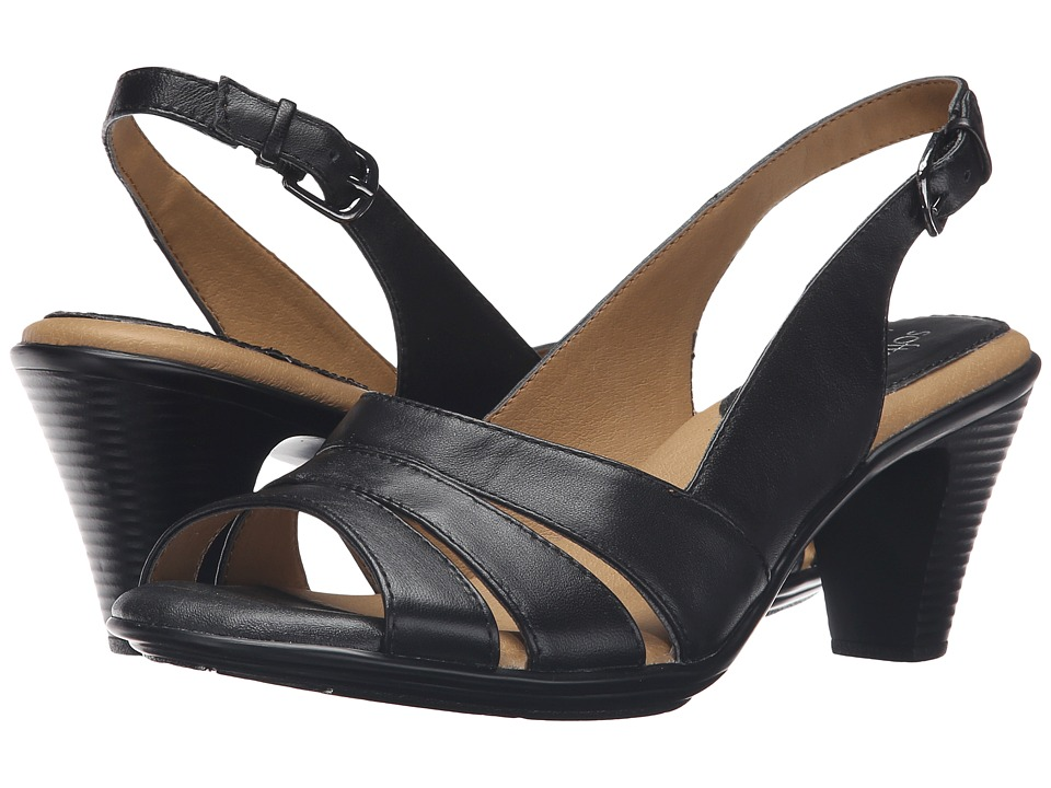 Softspots - Neima (Black Velvet Sheep Nappa) Women's Dress Sandals