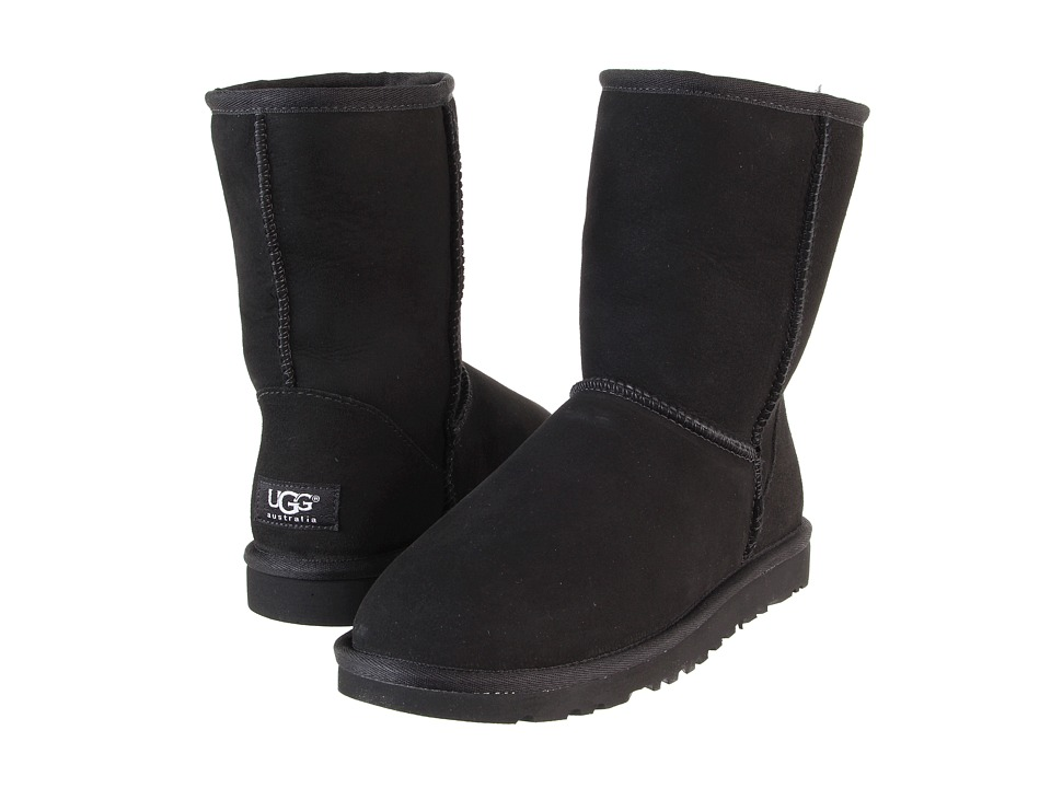 UGG Classic Short (Black) Women's Pull-on Boots