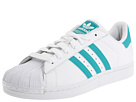 adidas Originals - Superstar 2 (White/Aero Reef/White) - Footwear