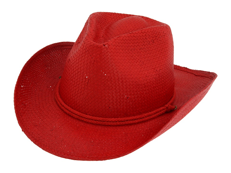 San Diego Hat Company Kids Kids Cowboy Hat (Toddler/Little Kids/Big Kids) (Red) Caps