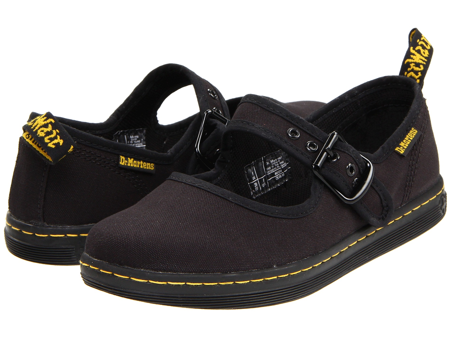 Black Canvas Mary Jane Shoes