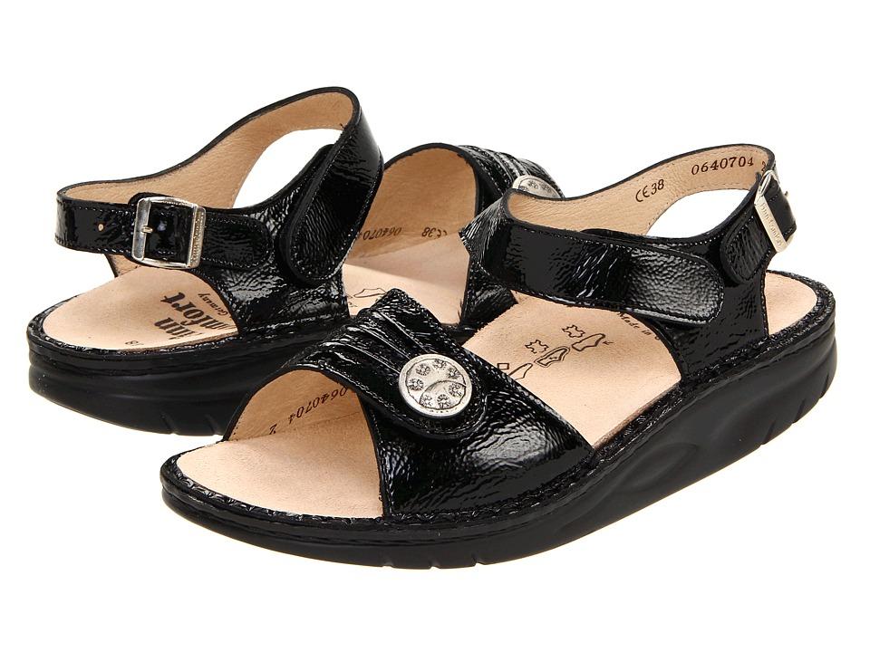 Finn Comfort Sausalito 1572 Black Patent Womens Sandals