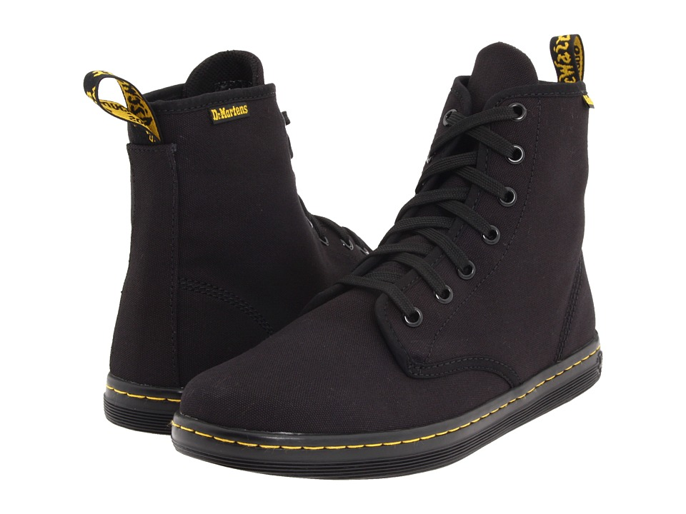 Dr. Martens Shoreditch (Black/Canvas) Women's Lace-up Boots