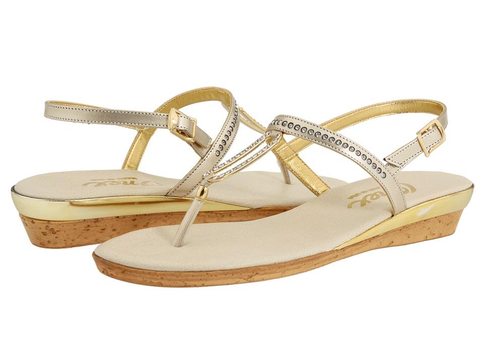 Onex Cabo (Platinum Leather) Sandals